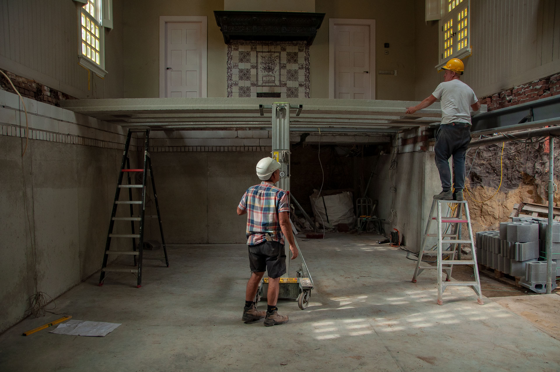 Kelder onder bestaand atelier